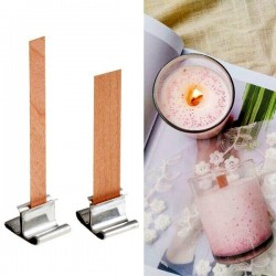 Wooden Candle Wick, 8x90mm, Pretabbed