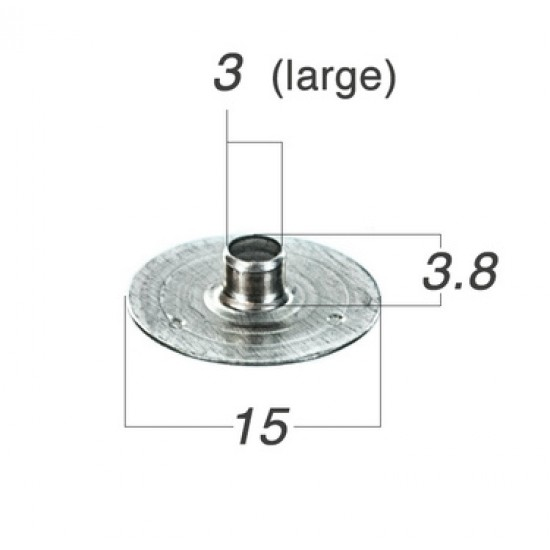 Wick tab-sustainer, 15x3.8mm